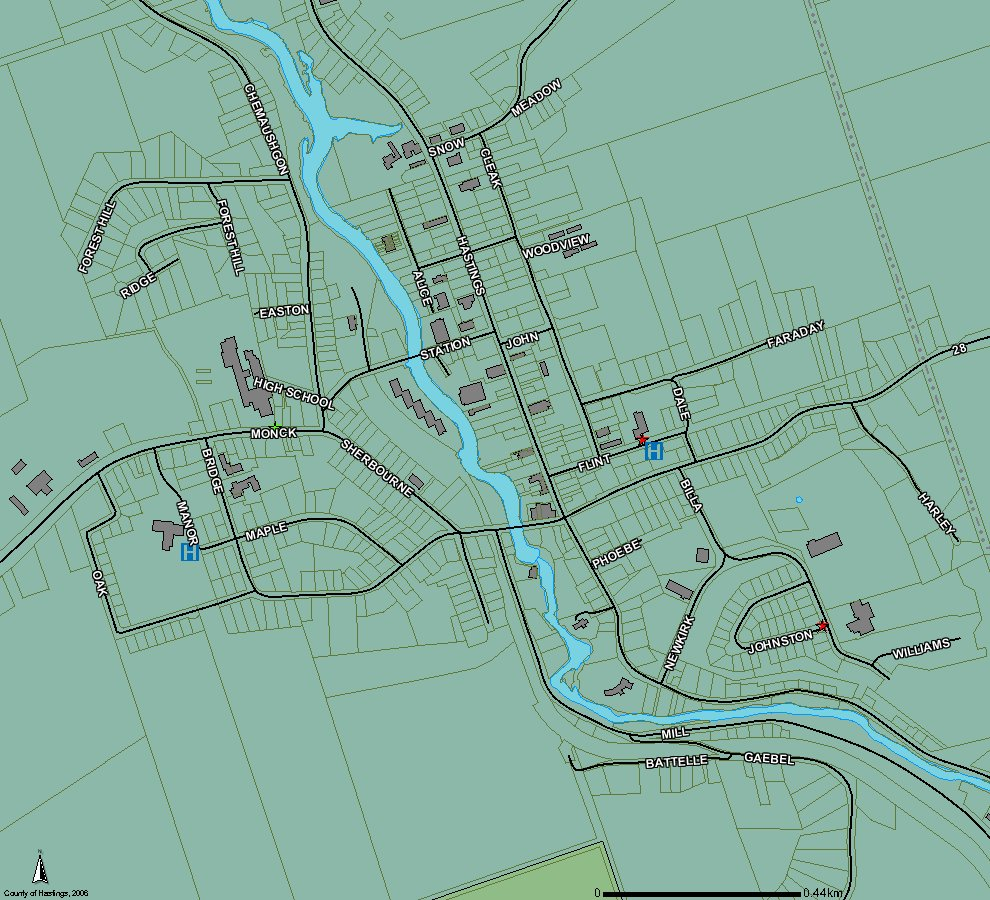 Bancroft Ontario Map Map of Bancroft | Bancroft Real Estate   Homes and Waterfront Cottages